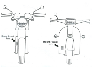 Motorcycle/Moped Permit Placement Graphic