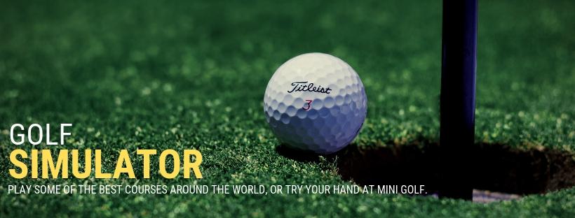 golf sim banner