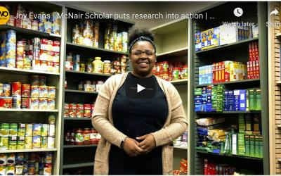SSS student Joy Evans helps respond to food insecurity on campus with new food pantry