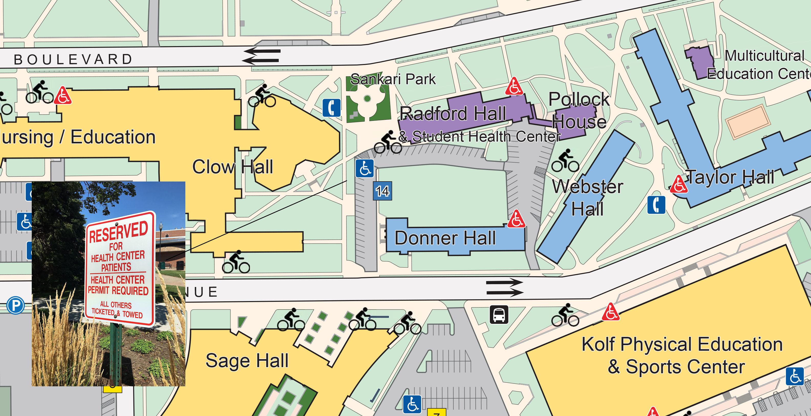 map of uwo campus 2016 17 Campus Map Ai Student Health University Of Wisconsin Oshkosh map of uwo campus