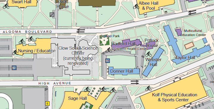 Map Campus 2015 2016 Student Health University Of Wisconsin Oshkosh
