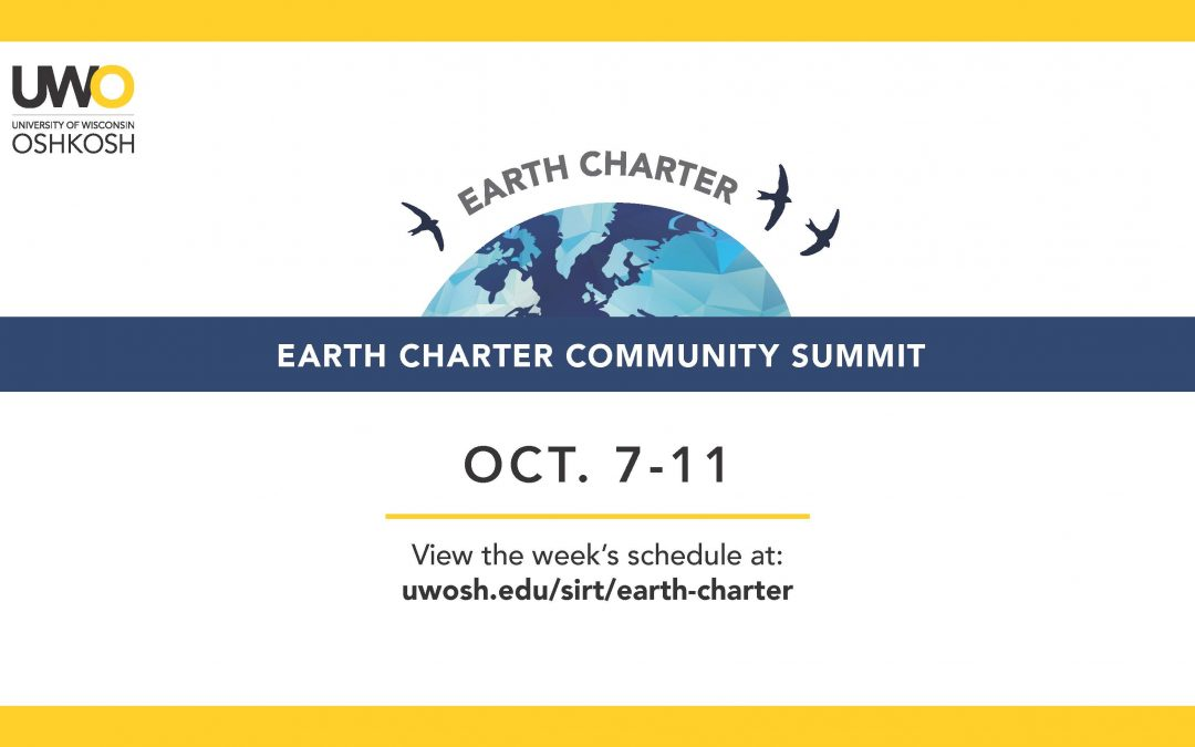 Earth Charter Community Summit events kick off Oct. 7 at UWO