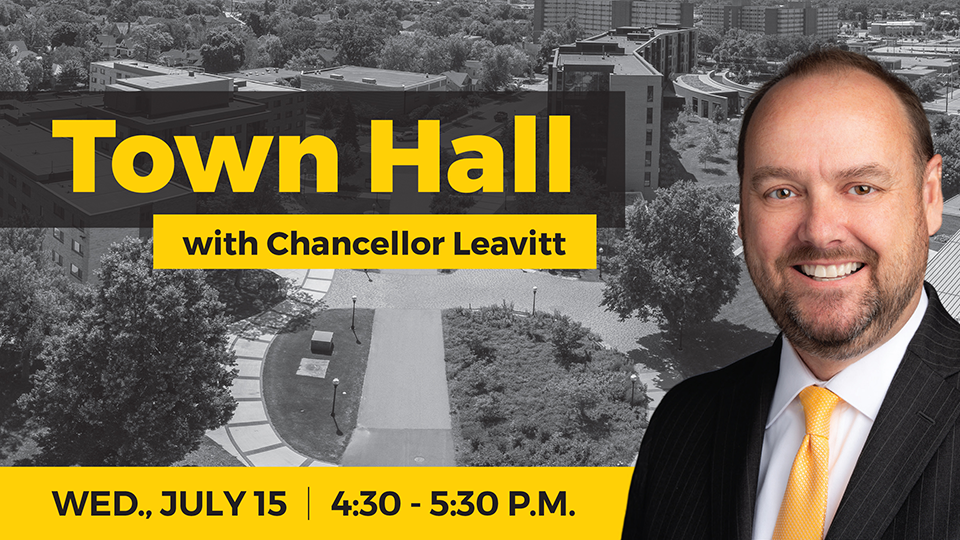 Chancellor Leavitt will host Town Hall for alumni July 15