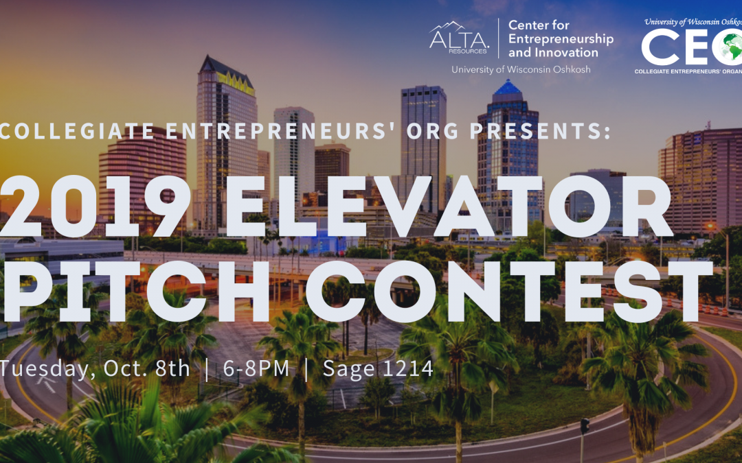 2019 Elevator Pitch Contest