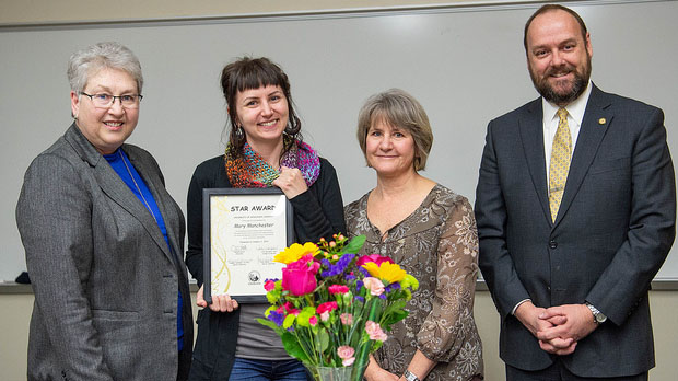 University services associate in CON earns February STAR award
