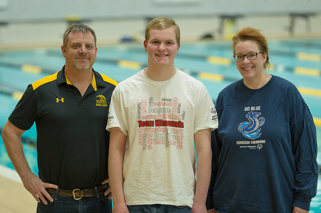 "Teen ""adopted"" by UWO swim team seeks gold at Special Olympics USA Games"
