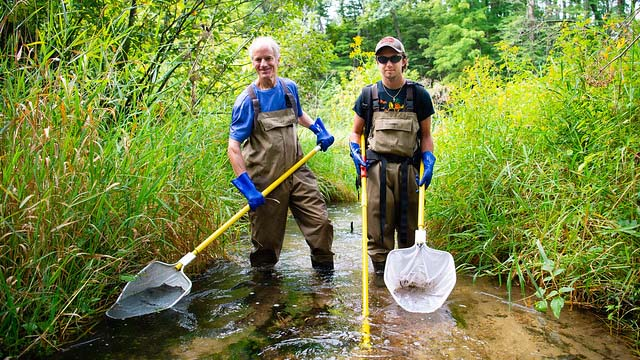 UWO student researching impact of climate on trout streams