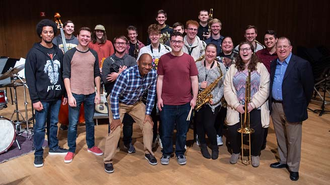Branford Marsalis riffs with UWO students on music and life