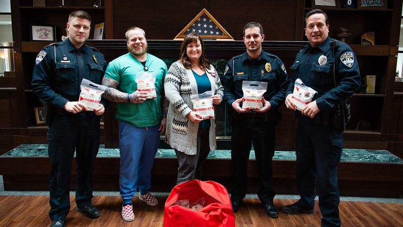 Aurora Medical Center donates 30 lifesaving kits to UWO