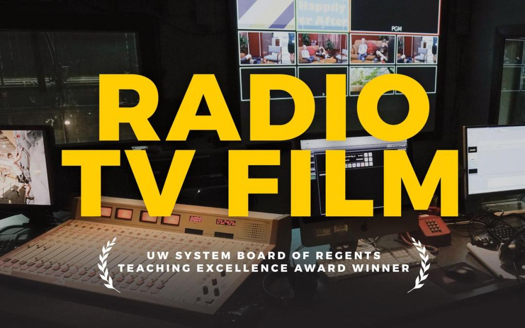 UW Oshkosh's radio TV film department earns UW System Regents Teaching Excellence Award