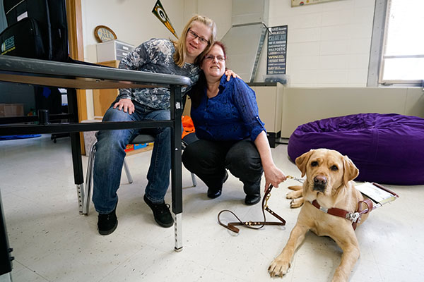 Grad, service dog to walk commencement stage together