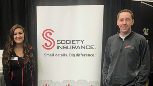 Two UWO business seniors get quick start on careers with Society Insurance