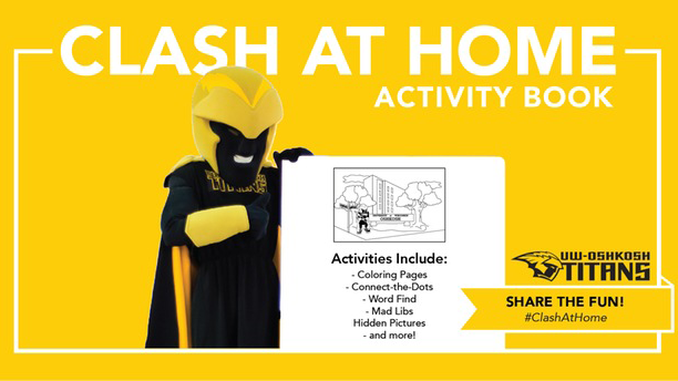 Clash At Home Activity Book sprinkled with creative fun