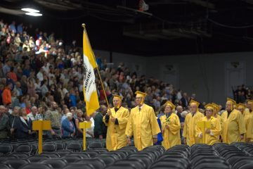 The Class of 1966, our Golden Titans, led the class of 2016 into the afternoon commencement ceremony