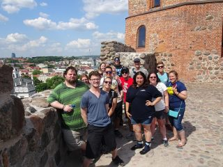 Photo of students studying abroad in Poland