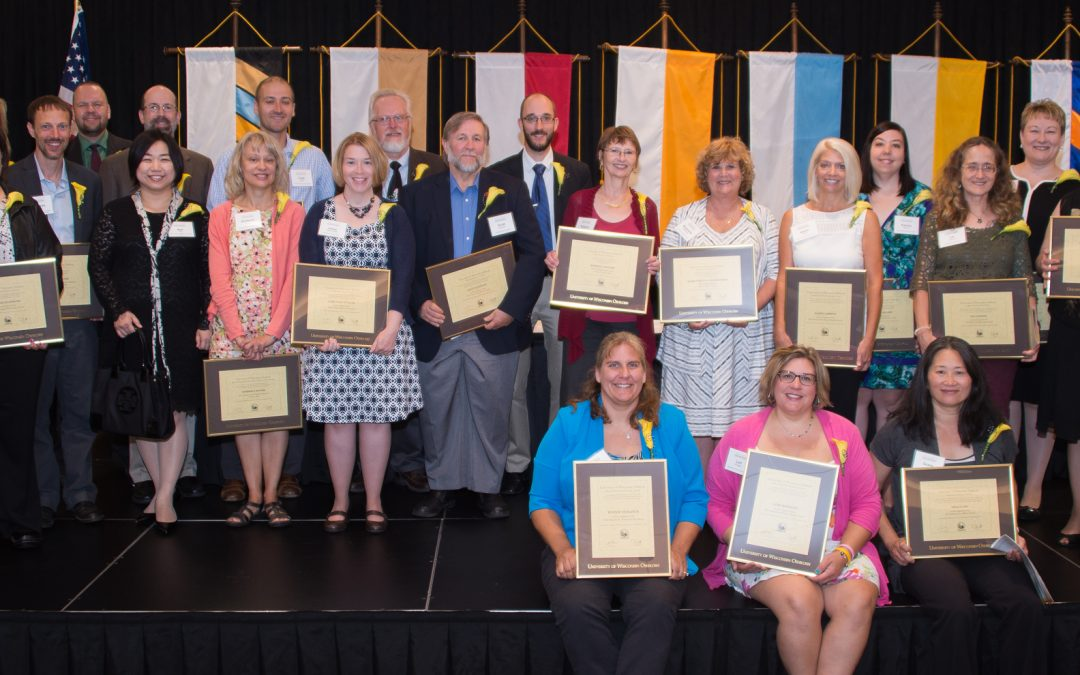 UW Oshkosh faculty, staff recognized at 2016 Opening Day Convocation