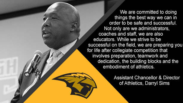 A message from Assistant Chancellor, Director of Athletics Darryl Sims