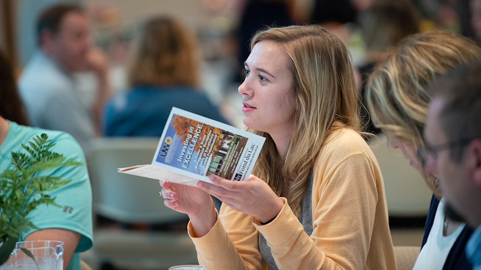 UWO Fond du Lac campus scholars and donors recognized