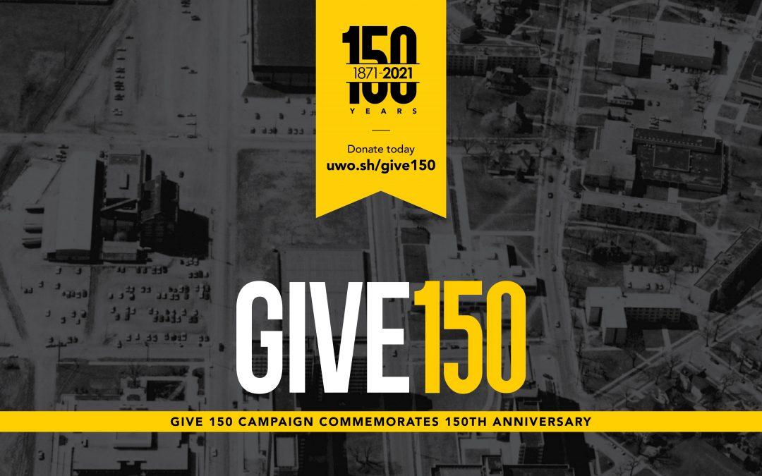 Give 150 campaign commemorates 150th anniversary
