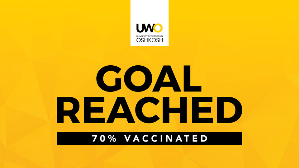 UW Oshkosh students reach 70% vaccination rate