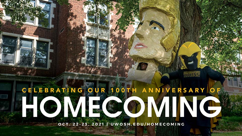UWO alumnus savors time as Tommy Titan; fraternity planning Homecoming weekend reunion
