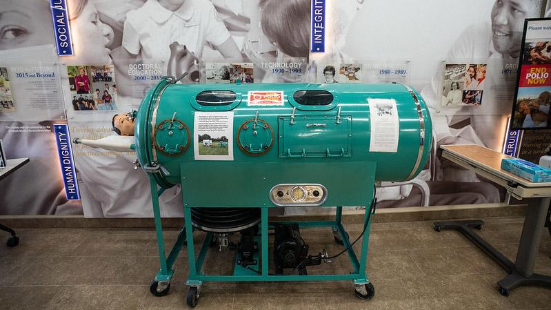 UW Oshkosh displays iron lung for Polio Awareness Month