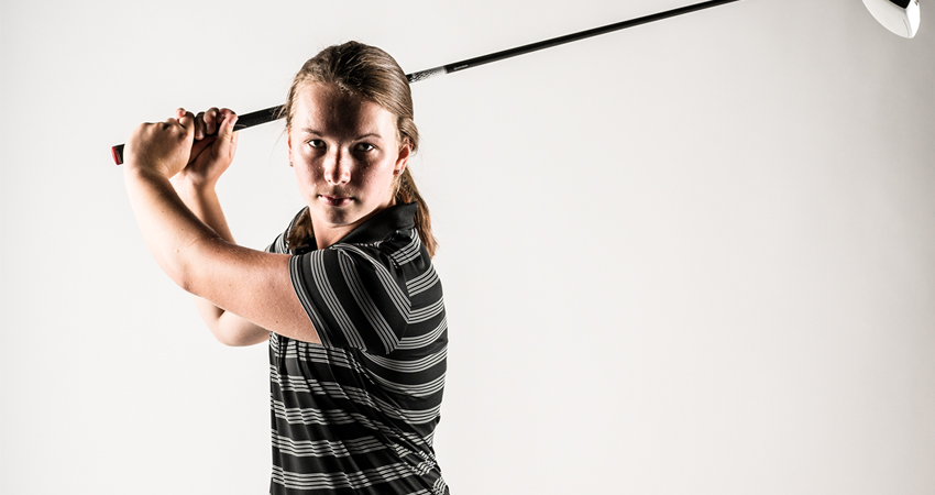 UWO junior golfer is the picture of perfection in athletics and academics