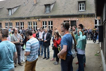 Students take a tour while studying abroad