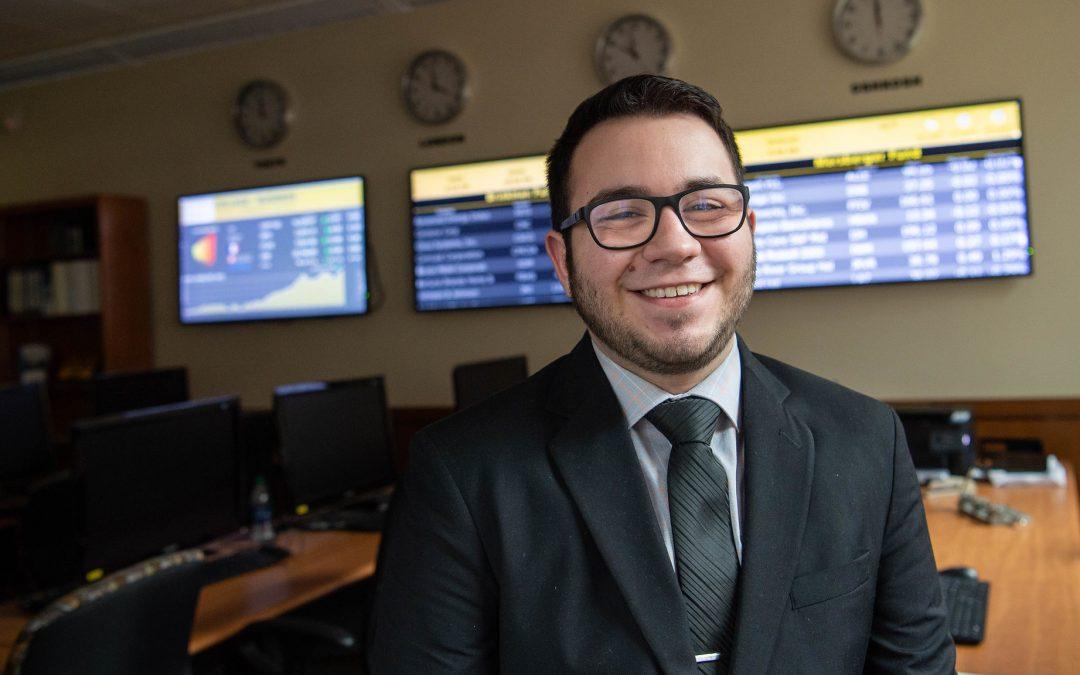 UW Oshkosh finance and management major Luiz Spim receives academic awards