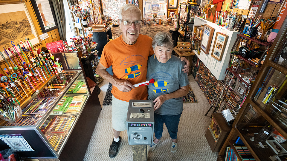 Making their mark: UWO alumni couple turn home into Museum of Writing Instruments