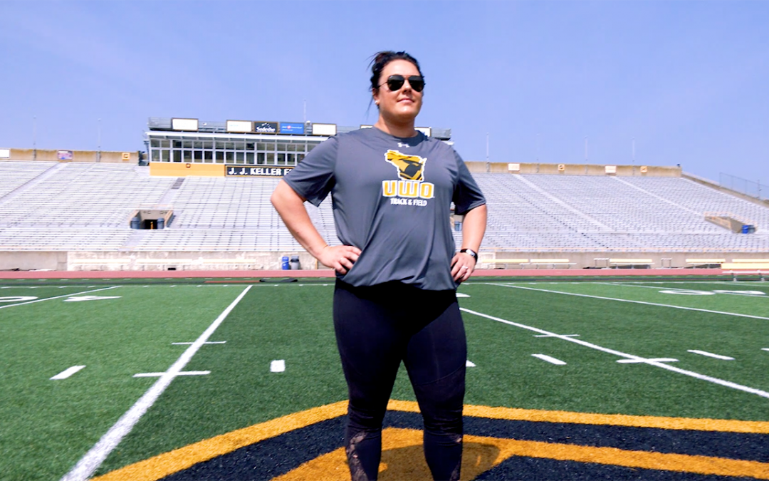 VIDEO: UWO track coach powers up for weightlifting competition