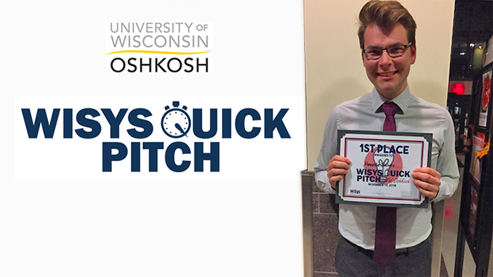 UW Oshkosh secondary education major tops WiSys Quick Pitch competition