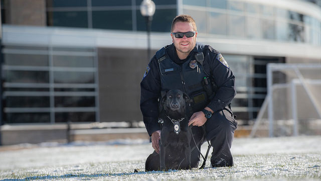 UW Oshkosh welcomes service K9 to campus