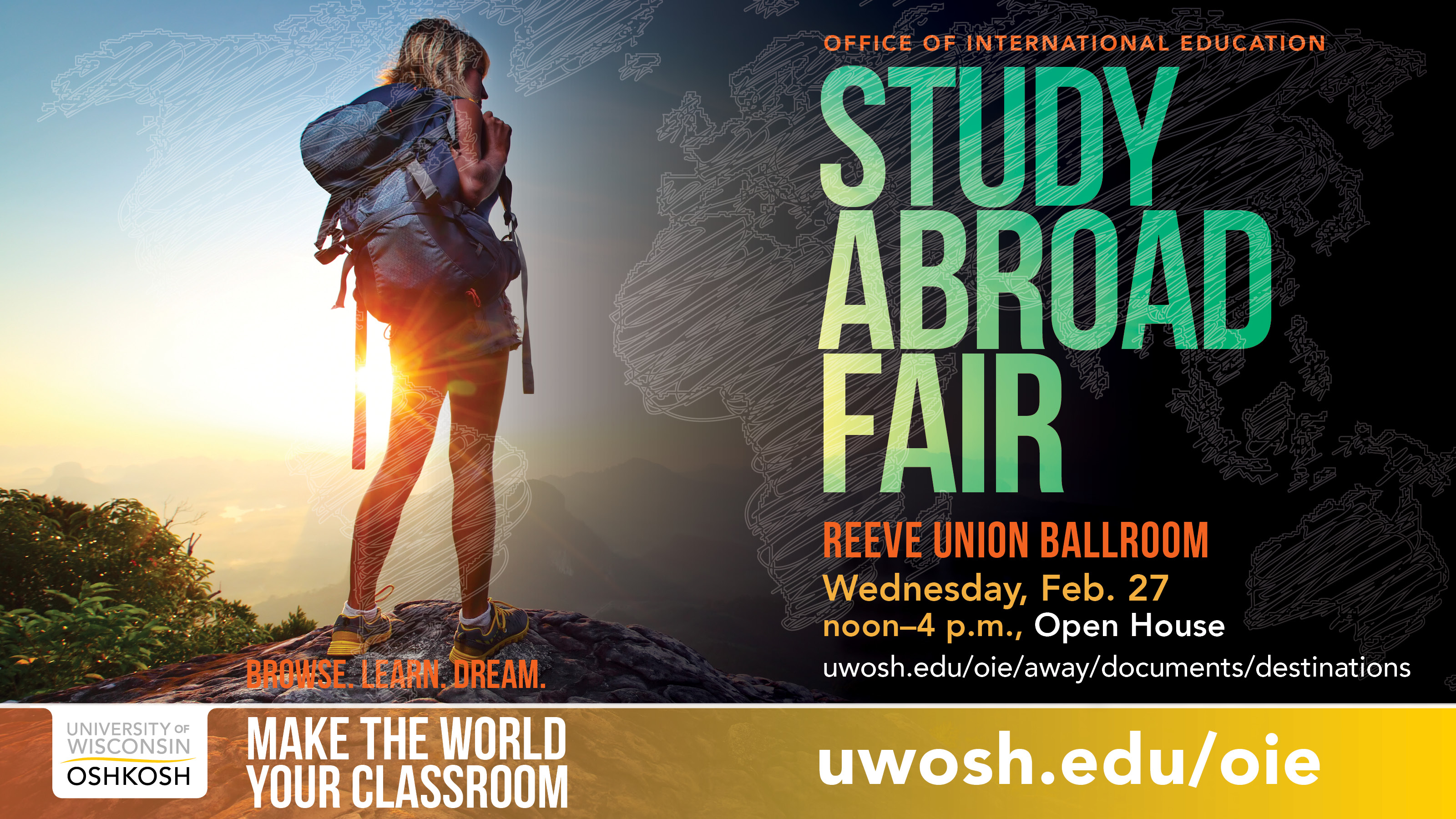 Opportunities showcased Feb. 27 at UW Oshkosh Study Abroad Fair