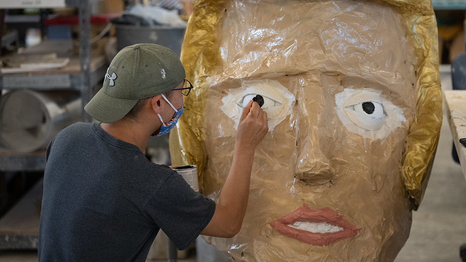 Thanks to alumnus artist, long-gone mascot Tommy Titan is back for 150th