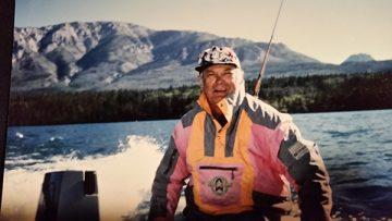 Laudon on Tagish Lake in the Yukon