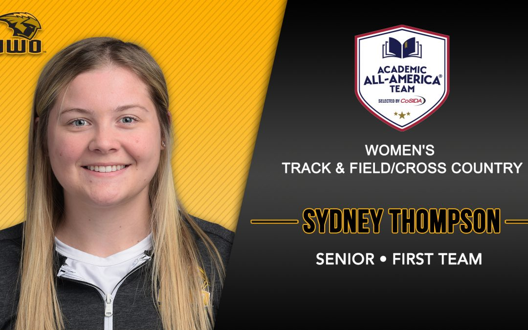 Thompson receives academic all-America first team honors