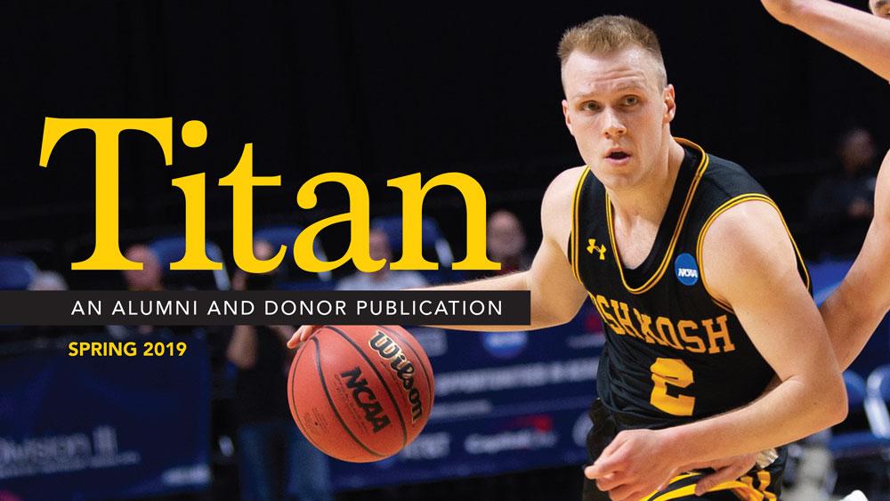 New issue of Titan mag highlights UW Oshkosh's recent athletic, alumni and academic successes