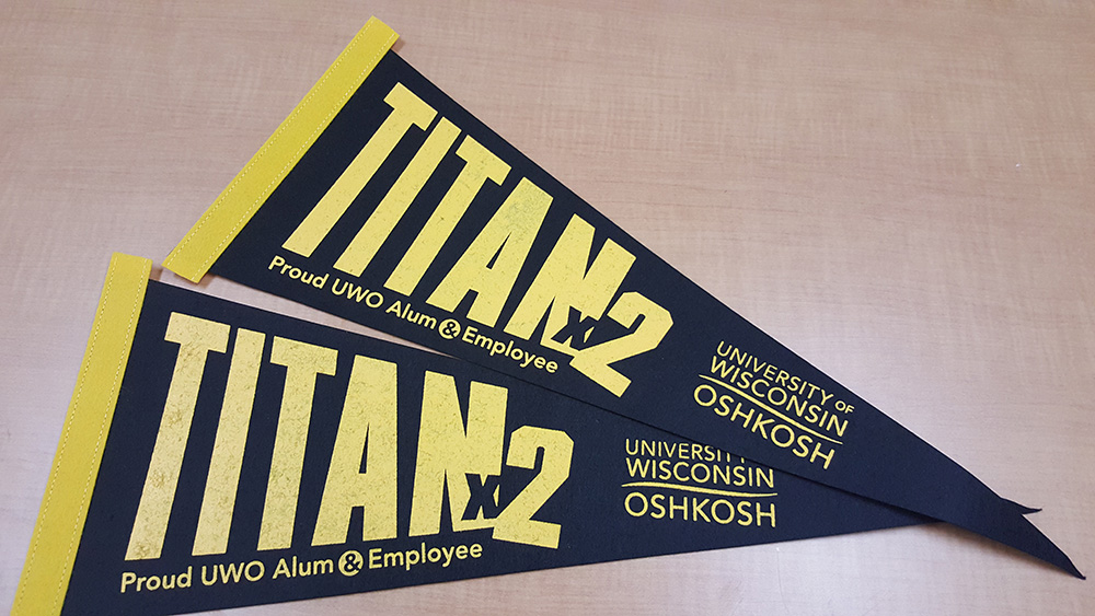 Alumni-employees share double the Titan pride