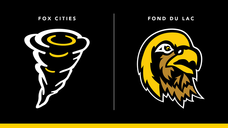 Cyclones, Falcons refreshed: Spring grad behind redesign of access campus athletic logos