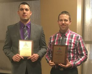 Wisconsin Excellence in Science Education Award Winners, left to right: Matt Lindsey and Brad Wysocki
