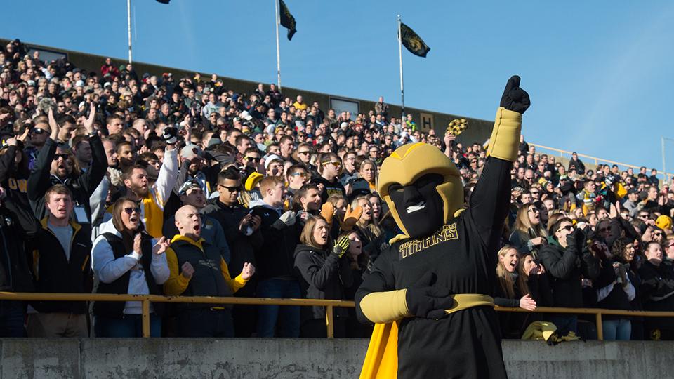 Clash in action: UW Oshkosh mascot keeps Titans riled up