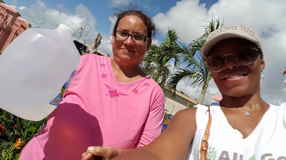 Alumna serves in unlikely role as 'relief worker' after surviving devastating Hurricane Maria