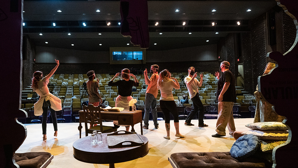 Theatre students rehearse for season finale 'The Imaginary Invalid'