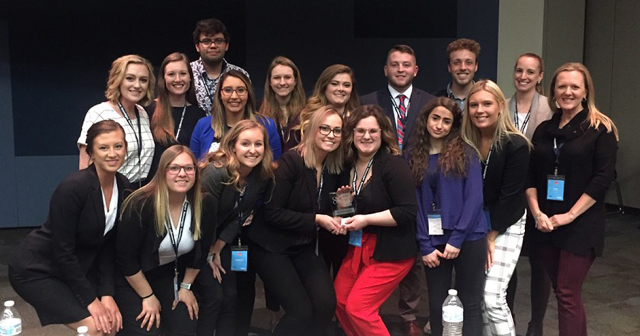 UW Oshkosh advertising students second in NSAC district competition