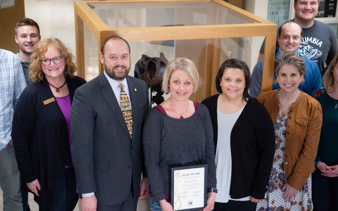 Geology ADA earns May STAR Award