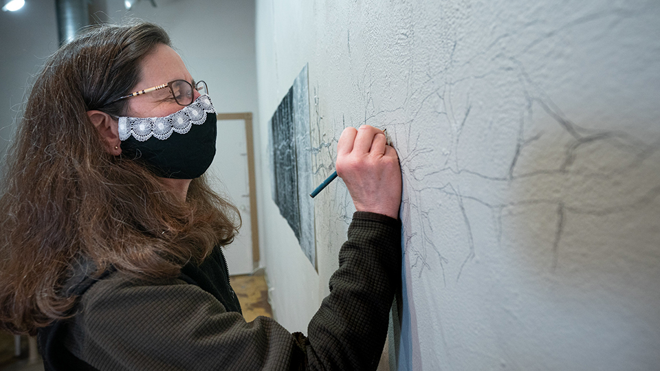 UWO art professor's 'Passing Time' depicts an invasive species growing by the day
