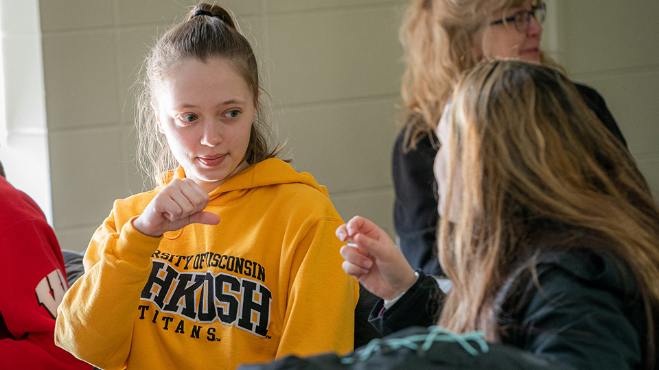 UWO's popular Sign Language Club provides easy entry to valuable new skills
