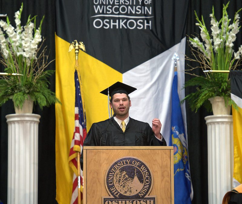 Student commencement speaker: 'Be a Titan…'