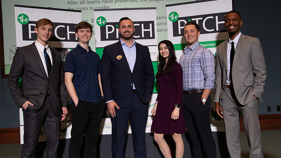UWO student teams celebrate strong showing in NE Wisconsin business pitch competition